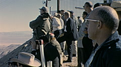 Nuclear test 1963: spectators waiting for the explosion Stock Footage