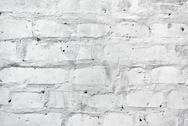 White brickwork as texture Stock Photos