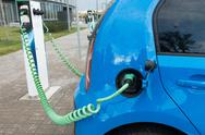 Modern electric car charging Stock Photos