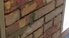 Brickwork process Stock Footage