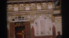 1962: ancient art , vintage clip of architecture Stock Footage
