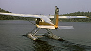 Canada 1970: seaplane before taking off Stock Footage