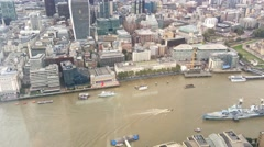 London northern side aerial view with City skyscrapers Stock Footage