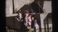 1962: people of syria peering into water unsure if it is clean  Stock Footage