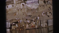1962: people congregated about a a CALCUTTA Stock Footage