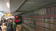 LONDON – People wait for subway train. London subway is a very Stock Footage