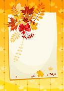 Autumn card Stock Illustration