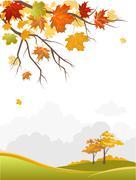 Autumn scenery Stock Illustration