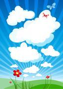 Cloudy sky Stock Illustration