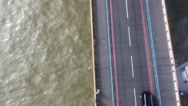 Traffic overhead view from the top of Tower Bridge, London Stock Footage