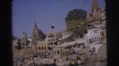 1962: city of temples and temples shows its pride and devotion  Stock Footage