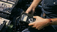 Canada 1970: equipment to test radioactivity Stock Footage