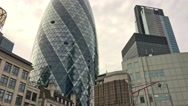 LONDON –  London City modern buildings. The City is a business Stock Footage