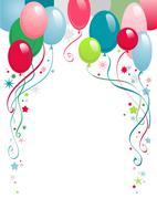 Happy birthday balloons Piirros