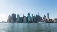 Lower Manhattan Skyline New York City Day Timelapse Stock Footage