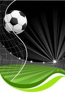 Soccer game background Stock Illustration
