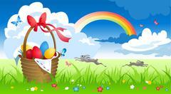 Spring landscape Stock Illustration