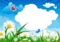 Summer meadow Stock Illustration