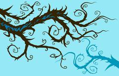 Whimsical branch Stock Illustration