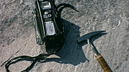 Canada 1970: equipment to test radioactivity Stock Footage