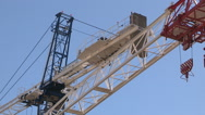 Construction crane in downtown Toronto Stock Footage