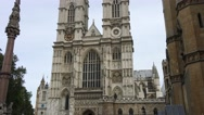 Westminster Abbey from street level, London Stock Footage