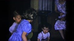 1951: children are seen indoors playing CLEVELAND, OHIO Stock Footage
