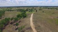 Rural road. aerial view Stock Footage