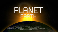 Planet Earth Logo 2016 Stock After Effects