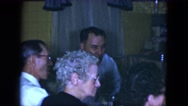 1951: an indoor family party is seen CLEVELAND, OHIO Stock Footage