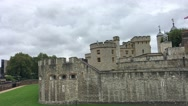 LONDON –People along Tower of London. London attracts 30 Stock Footage