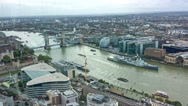 London southern side aerial view with City skyscrapers Stock Footage