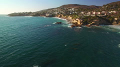 Laguna Beach Aerial 14 California Coast 4K Stock Footage