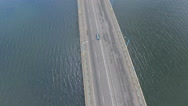 The bridge over the river. Aerial shot Stock Footage