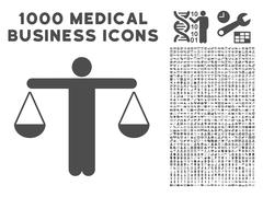 Judge Person Icon with 1000 Medical Business Pictograms Stock Illustration