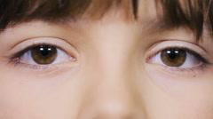 Beautiful girl's eyes, human eyes Stock Footage