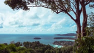 Timelapse of beautiful clouds over the coast of Phuket Island, Thailand Stock Footage