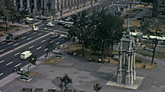Montreal 1970: downtown traffic Stock Footage
