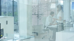 4K Electronic engineer working in the lab with 3D printer. Stock Footage