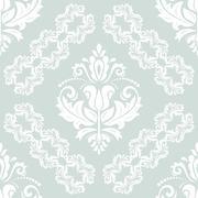 Seamless Damask Vector Background Stock Illustration