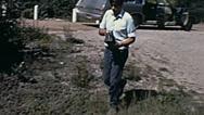Canada 1970: scientist testing radioactivity Stock Footage