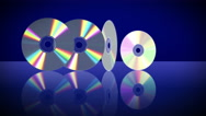 Five Laser Discs Appear One After Another. 4K. Stock Footage