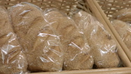 Loafs of white bread Stock Footage
