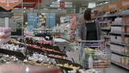 A day of shopping Stock Footage