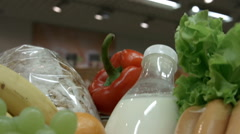 Food basket closeup. Time Lapse Stock Footage