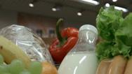 Food basket closeup. Time Lapse Stock Footage
