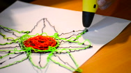 Drawing 3d pen Stock Footage