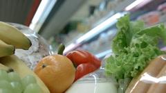 Food cart closeup Stock Footage