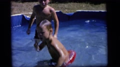 1964: a swimming scene CAMDEN NEW JERSEY Stock Footage