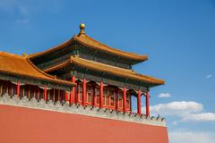 Traditional Chinese architectural roof Stock Photos